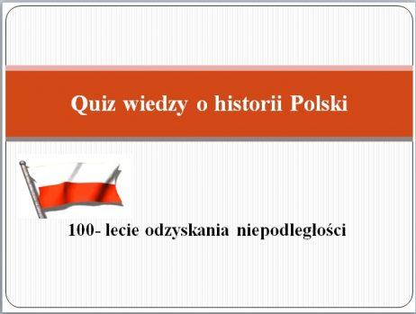 Quiz wiedzy o historii Polski